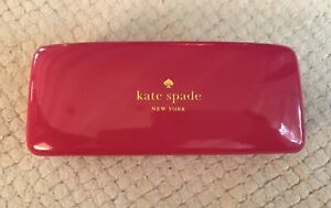 Kate Spade New York Sunglasses Case / Pink & Orange Hard Clam Shell / Pre-owned
