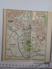Salisbury Street Plan, 1939 Vintage Map, Original, Atlas