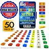 BioFuse® Micro2 50 Piece Assorted Fuse Pack *Set of 50 Blade Fuses + Fuse Puller