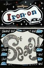 IMPEX - Iron On Silver Holographic Transfer Motif - Sexy 10cm x 6.8cm