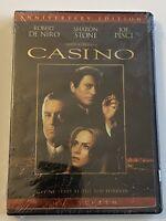 Casino De Niro Sharon Stone Joe Pesci Anniversary Edition DVD Sealed M648