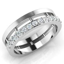 Engagement Men Ring 14K White Size 7.5 Gold I-J/Si1 0.39 Ct Real Diamond Wedding
