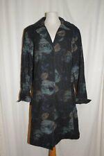 Susan Baumgärtel Exclusive Design Coat Frock-Coat Nuno-Filz Black/Blue 44 New