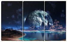 Quadro moderno LUNA sole marte universo lago pianeta sistema solare 80x120 terra