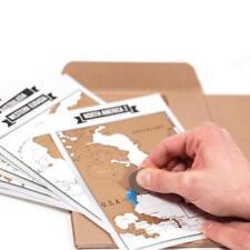 Journal Diary Notebooks Scratch World Map Travelogue Travel Log Notebooks Gifts
