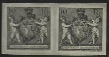 Liechtenstein stamps 1921 10Rp Imperforated PROOF Pair UNG(as issued) VF