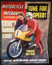 Motorcycle Mechanics March 1969 original vintage magazine, scooter, 3-wheeler