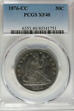 1876 CC 50C PCGS  XF 40          Seated Liberty Half Dollar