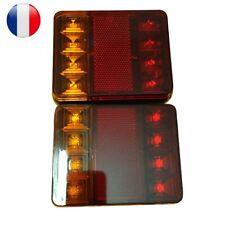 2Pcs 8LED Feu Feux Arrière Lumière Lampe Éclairage Pour Chariot Remorque Voiture