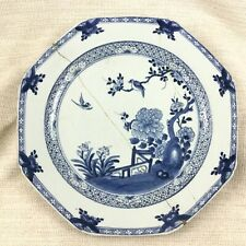 Antique Chinese Porcelain Charger Plate Large Dish Hand Painted Blue and White