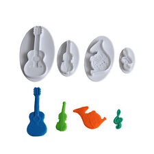 Music Symbol Cookie Cutter Cupcake Pastry DIY Decorating Tools Guitar Modeling