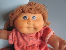 """Cabbage Patch Kids 14"""",baby doll lt brown yarn hair blue eyes homemade body"""