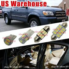 14-pc Luxury White LED Interior Lights Package Kit for 2005 2006 Toyota Tundra