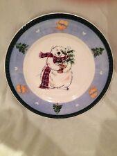 Pfaltzgraff Polar Bear Holiday Winter Christmas Plate Mittens