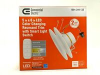 CE 5-6 in. LED Color Changing Recessed Trim with Smart Light Switch 2-pk