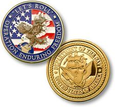 "US Navy ""Let's Roll"" Challenge Coin Operation Enduring Freedom OEF USN Afghanist"