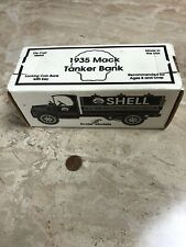 1935 Mack Tanker Locking Bank Die-Cast Model SHELL OIL LOGO New