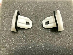 (2) 52197-30040 NEW LEXUS BUMPER SUPPORT WHITE PLASTIC CLIPS BRACKET FENDER OEM