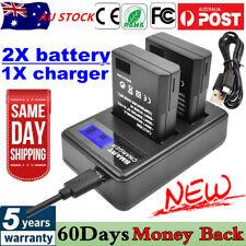 2X EN-EL14 Battery+LCDDUAL Charger for Nikon D5100 D3100 D3200 D3300 P7000 P7800