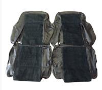 Sellerie garniture avant Peugeot 205 GTI  cuir noir quartet vert 205/37