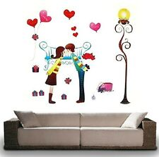 New Romatic Lover Couple Love Heart Wall Decal Sticker Home Decor