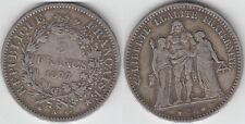 +Gertbrolen+ 5 FRANCS Argent  Troisième  République Hercule  1877  Paris