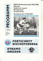 OL 89/90 Fortschritt Bischofswerda - Dynamo Dresden