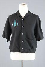 Vtg 1960s Iolani Shirt Jac Men's sz M #1183 Rockabilly Hawaii