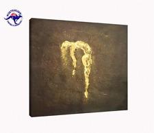 MODERN DECOR OIL PAINTING FRAMED WITH MOTTLED GOLDEN FRAME