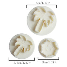 3PCS Coconut Palm Home DIY Cake Decorating Tool Baking Mold Pastry Biscuit Mould