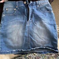 Ziggy Denim size 30 Meet My Mum Carrot High Waist Blue Denim Mini Skirt