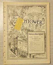 12-15-1936 The Watchtower and Herald of Christ's Presence Jehovah IBSA original