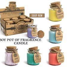 2 botes de fragancia Tarro de soja Velas-pequeño Perfumado soja natural de vidrio