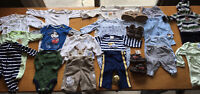 baby boy clothes 0-3 months NB lot carter's fall winter 24 pcs Disney Circo