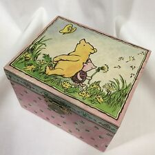 Classic Pooh Music Jewelry Box Pink Winnie the Pooh Piglet Heart Mirror Linden
