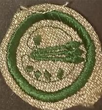 1933-1936 Girl Scout Badge ARTIST - GREY GREEN ROUND