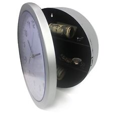 Wall Clock Hidden Safe Secret  Security Money Jewelry Cash Compartment Stash Box