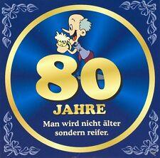 Aufkleber Flaschenetikett 80 Jahre mit witzigen Spruch Geburtstag Bierflasche