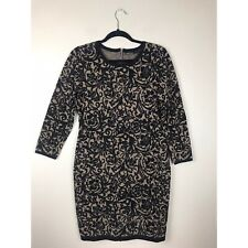 Karen Millen Women's Printed Knit Dress 3/4 Sleeves Exposed Zipper Floral 4