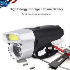 USB Rechargeable LED Bicycle Headlight Bike Head Light Front Lamp Cycling+Mount