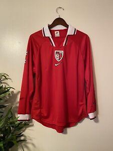 FC Sion 1997/98/99/2000 Home football shirt LS Soccer Jersey, Size Medium. NWOT