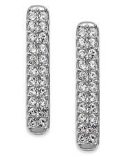 Eliot Danori by Nadri Silver Tone Crystal Linear Drop Earrings