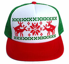Humping Sex Reindeer Christmas Sweater Party Snapback Mesh Trucker Hat Cap RWG