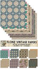 """Paper 24sh 6""""x6""""# Art Nouveau Motiffs # Flonz 069 Craft Scrapbooking"""