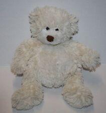"Small 11"" Ivory TEDDY BEAR Brown Plush Nose Plastic Eyes Soft Toy Stuffed Animal"