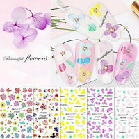 14 Patterns Nail Art Transfer Stickers Flower Decals Manicure Decoration Tip DIY
