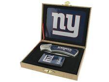 Folding Knife and Flip top Lighter Gift Set - New York Giants