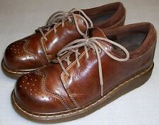 DR MARTENS Womens Shoe boots Brown Leather Air Cushion Sole UK size 7 US 8 M