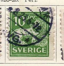 Sweden 1920-25 Early Issue Fine Used 10ore.  118389
