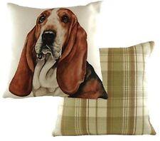 Bassett Hound Dog Cushion Cover - Waggy Dogz Range Quality Handmade in UK